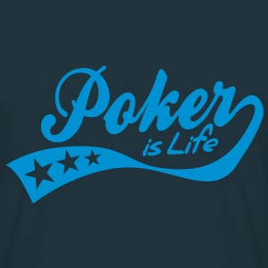 poker is life - retro Tröjor - T-shirt herr
