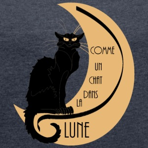Comme un chat dans la lune Sweat-shirts - Women's T-shirt with rolled up sleeves