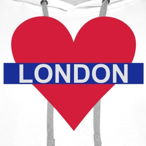 Love London - Underground Tee shirts - Sweat-shirt à capuche Premium pour hommes