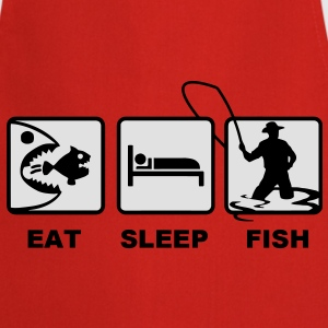 Red eat sleep fish T-Shirts - Cooking Apron