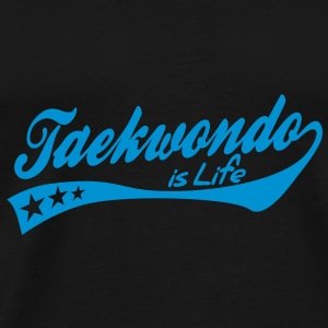 taekwondo is life - retro Paraplyer - Herre premium T-shirt