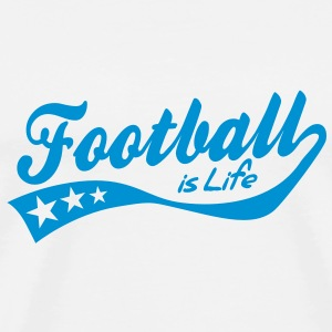 football is life - retro Tröjor - Premium-T-shirt herr