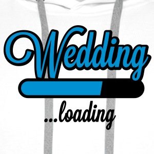 Wedding loading T-Shirts - Mannen Premium hoodie