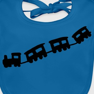 Royal blue train Kids' Shirts - Baby Organic Bib