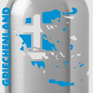 griechenland_umriss_flagge_50 Bags  - Water Bottle