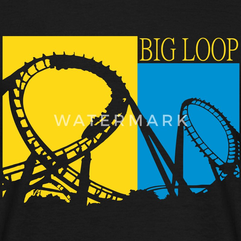 Big Loop Coaster Fan Logo T-Shirts - Männer T-Shirt