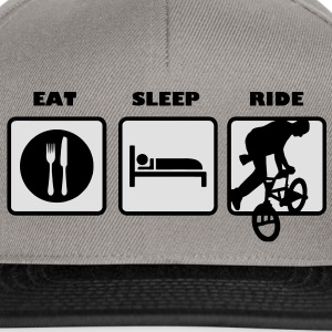 eat sleep ride bmx cross rad bike Taschen - Snapback Cap