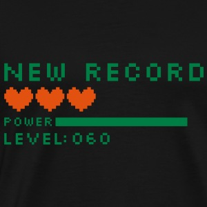 new record level 60 birthday design Geburtstag (nl) Sweaters - Mannen Premium T-shirt