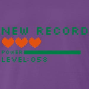 new record level 58 birthday design Geburtstag (uk) Hoodies & Sweatshirts - Men's Premium T-Shirt
