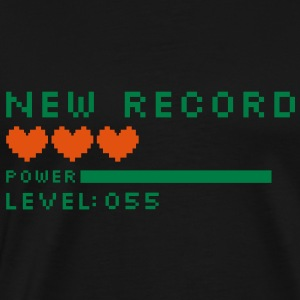 new record level 55 birthday design Geburtstag (nl) Sweaters - Mannen Premium T-shirt