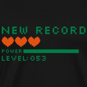 new record level 53 birthday design Geburtstag (nl) Sweaters - Mannen Premium T-shirt