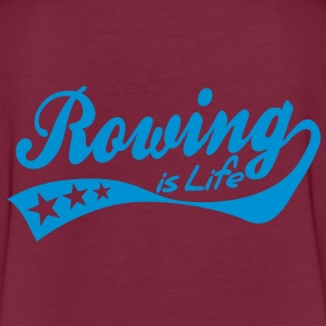 rowing is life - retro Poloshirts - Vrouwen oversize T-shirt