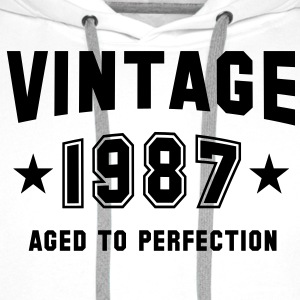 VINTAGE 1987 - Birthday T-Shirt White - Men's Premium Hoodie