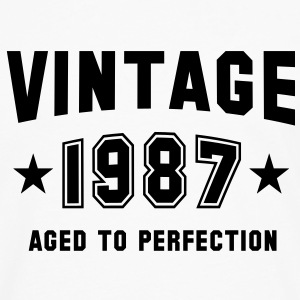 VINTAGE 1987 - Birthday T-Shirt White - Men's Premium Longsleeve Shirt