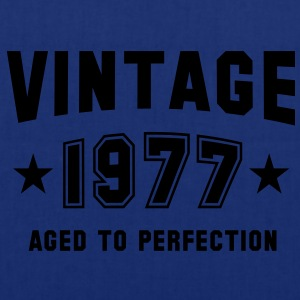 VINTAGE 1977 - Birthday T-Shirt - Tote Bag
