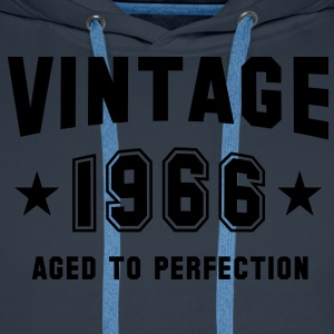 VINTAGE 1966 - Birthday T-Shirt - Men's Premium Hoodie