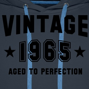 VINTAGE 1965 - Birthday T-Shirt - Men's Premium Hoodie