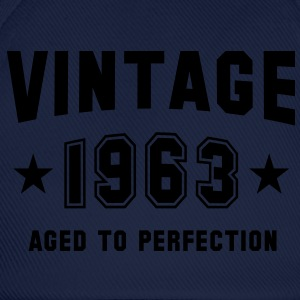 VINTAGE 1963 - Birthday T-Shirt - Baseball Cap