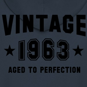VINTAGE 1963 - Birthday T-Shirt - Men's Premium Hooded Jacket