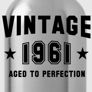 VINTAGE 1961 - Birthday T-Shirt - Water Bottle