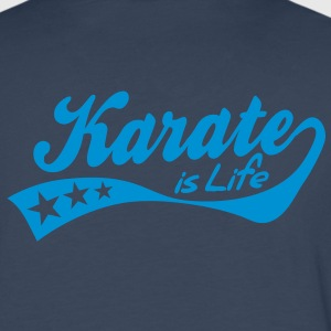 karate is life - retro Sweat-shirts - T-shirt manches longues Premium Homme