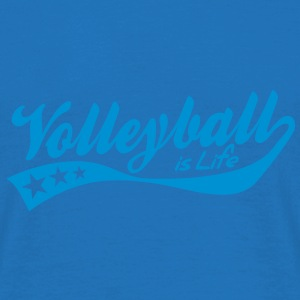 volleyball is life - retro Paraply - T-skjorte for menn