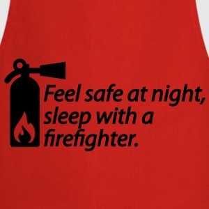 Feel safe at night, sleep with a firefighter T-shirt - Grembiule da cucina