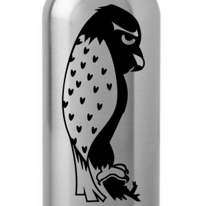Brummel Falke / grumpy falcon (b, 1c) T-Shirts - Water Bottle