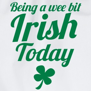 Being a Wee bit IRISH today! with shamrock ST PATS T-Shirts - Drawstring Bag