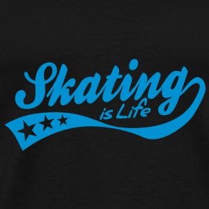 skating is life - retro Bags  - Men's Premium T-Shirt