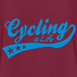 cycing is life - retro Poloshirts - Vrouwen oversize T-shirt