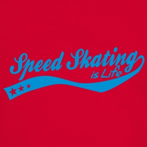 Speed skating is life - retro Bags  - Men's Ringer Shirt