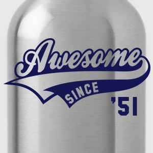 Awesome SINCE 1951 - Birthday Geburtstag Anniversaire T-Shirt WN - Drinkfles