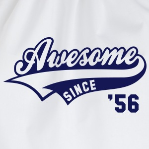 Awesome SINCE 1956 - Birthday Geburtstag Anniversaire T-Shirt BW - Gymtas
