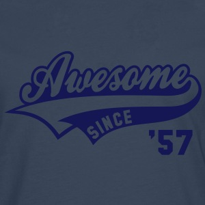 Awesome SINCE 1957 - Birthday Anniversaire T-Shirt WN - Men's Premium Longsleeve Shirt