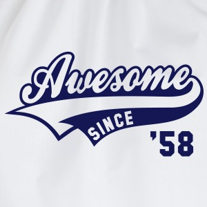 Awesome SINCE 1958 - Birthday Geburtstag Anniversaire T-Shirt BW - Gymtas