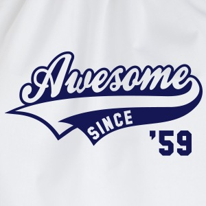 Awesome SINCE 1959 - Birthday Geburtstag Anniversaire T-Shirt BW - Gymtas