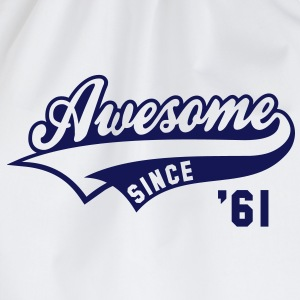 Awesome SINCE 1961 - Birthday Geburtstag Anniversaire T-Shirt BW - Gymtas