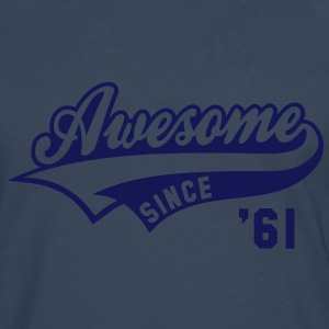 Awesome SINCE 1961 - Birthday Anniversaire T-Shirt WN - Men's Premium Longsleeve Shirt