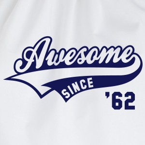 Awesome SINCE 1962 - Birthday Geburtstag Anniversaire T-Shirt BW - Gymtas