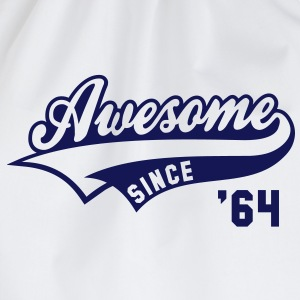 Awesome SINCE 1964 - Birthday Geburtstag Anniversaire T-Shirt BW - Gymtas