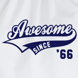 Awesome SINCE 1966 - Birthday Geburtstag Anniversaire T-Shirt BW - Gymtas