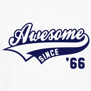 Awesome SINCE 1966 - Birthday Anniversaire T-Shirt BW - Men's Premium Longsleeve Shirt