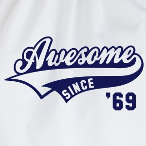 Awesome SINCE 1969 - Birthday Geburtstag Anniversaire T-Shirt BW - Gymtas