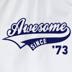 Awesome SINCE 1973 - Birthday Geburtstag Anniversaire T-Shirt BW - Gymtas