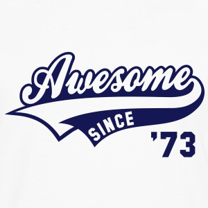 Awesome SINCE 1973 - Birthday Anniversaire T-Shirt BW - Men's Premium Longsleeve Shirt