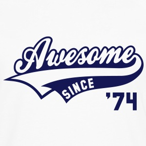 Awesome SINCE 1974 - Birthday Anniversaire T-Shirt BW - Men's Premium Longsleeve Shirt