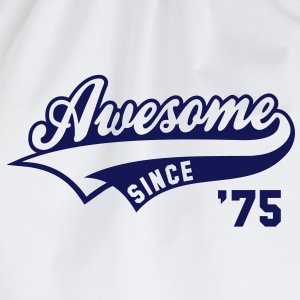 Awesome SINCE 1975 - Birthday Geburtstag Anniversaire T-Shirt BW - Gymtas