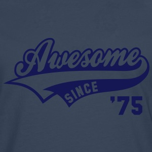 Awesome SINCE 1975 - Birthday Anniversaire T-Shirt WN - T-shirt manches longues Premium Homme