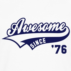 Awesome SINCE 1976 - Birthday Anniversaire T-Shirt BW - Men's Premium Longsleeve Shirt